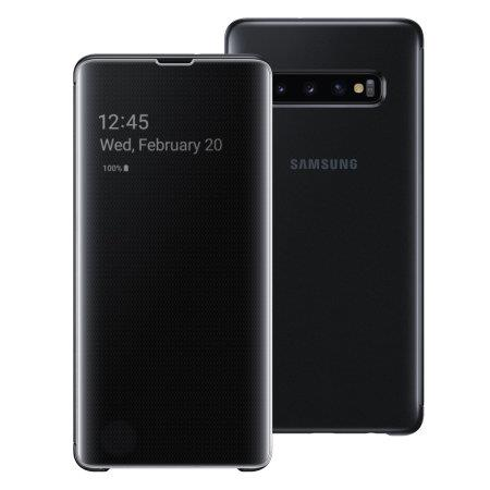 SAMSUNG CLEAR VIEW COVER S10 plus BLACK uden abonnement